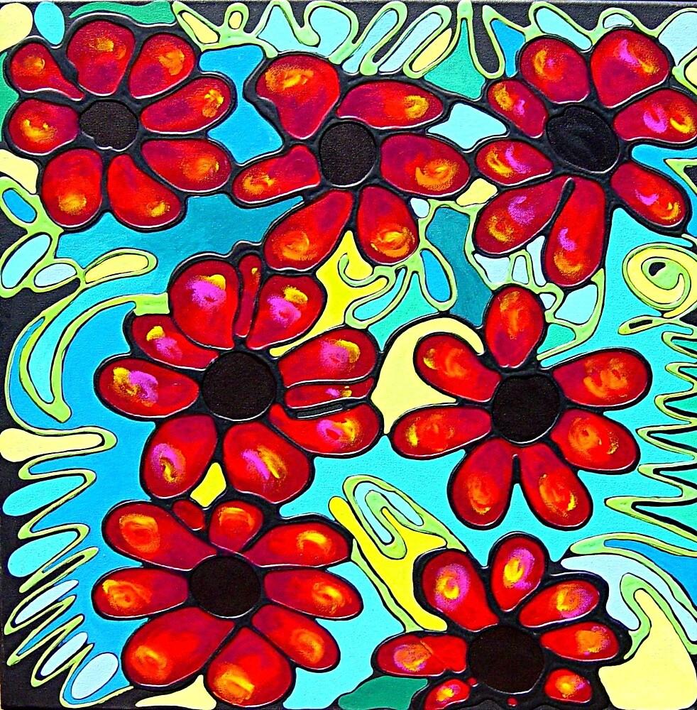 Black Tipped Petals by artwinkel