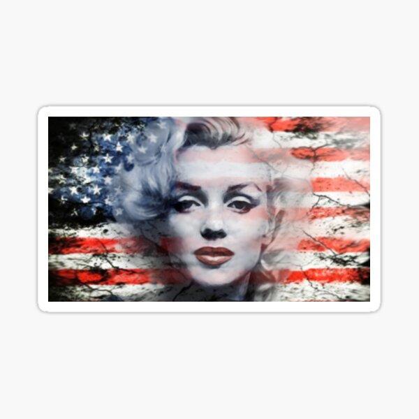 A Marilyn Flag Sticker