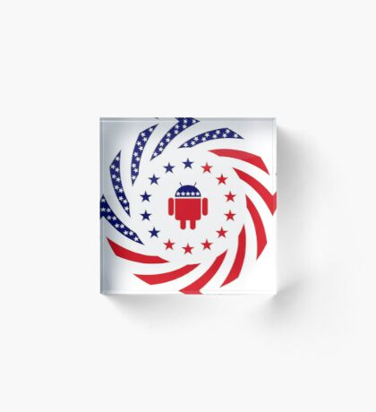 Android Murican Patriot Flag Series Acrylic Block