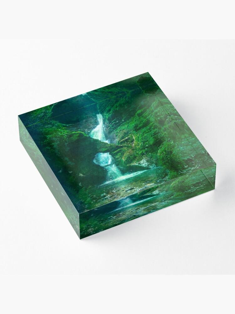 Alternate view of St.Nectan's Glen - Mystic Waters Acrylic Block