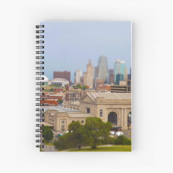 Union Station, Downtown Sky Scrapers, Kansas City Tilt Shift, Color Spiral Notebook