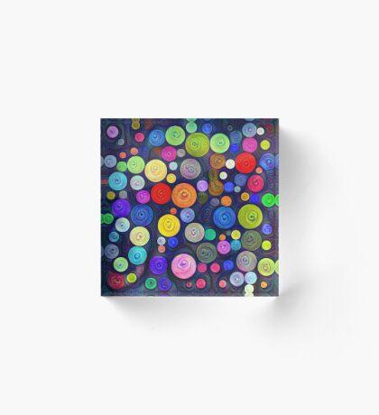 #DeepDream Color Circles Visual Areas 5x5K v1448448724 Acrylic Block