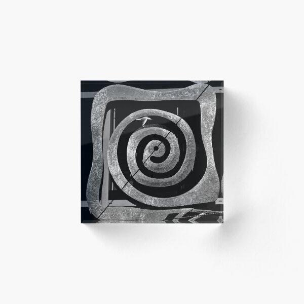 Worm Hole Acrylic Block