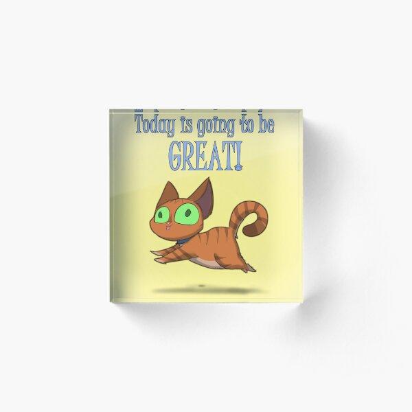 Optimistic Cat Acrylic Block
