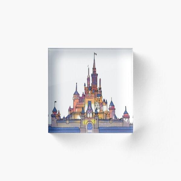 Watercolor Castle Acrylic Block