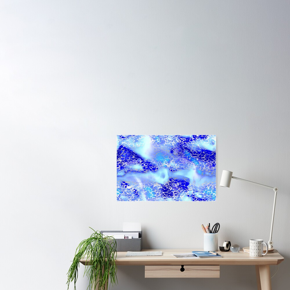 Cool silver color fancy Poster