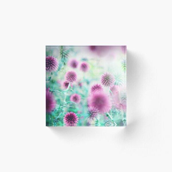 Dream Flowers Pink Acrylic Block