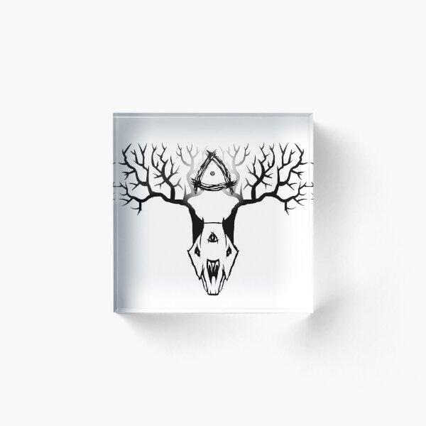 Elder Hollow Logo Acrylic Block