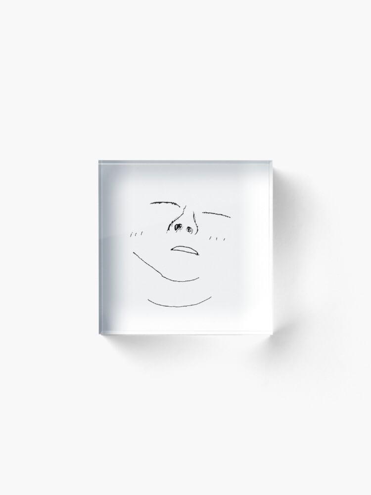 Vista alternativa de Bloque acrílico BTS Suga Birthday Doodle