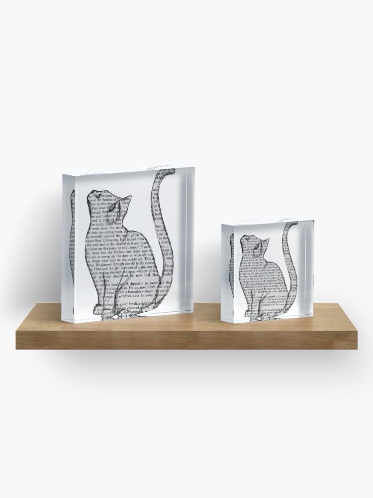 Alternative Ansicht von Bücher und Katzen und Bücher und Katzen Acrylblock