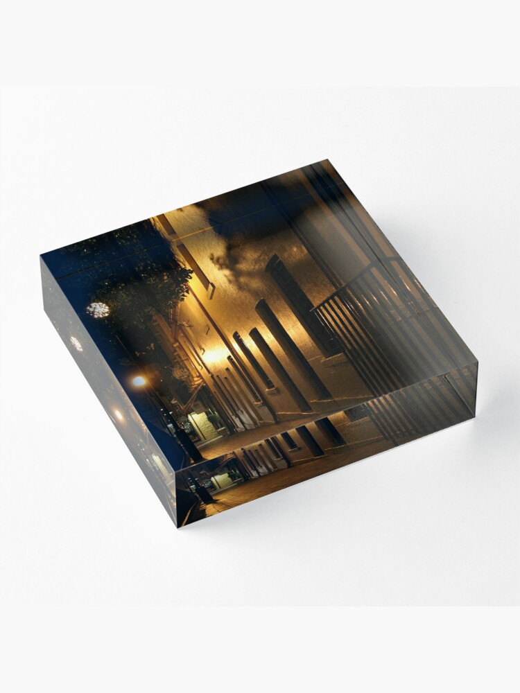Alternate view of Paved in Gold Acrylic Block
