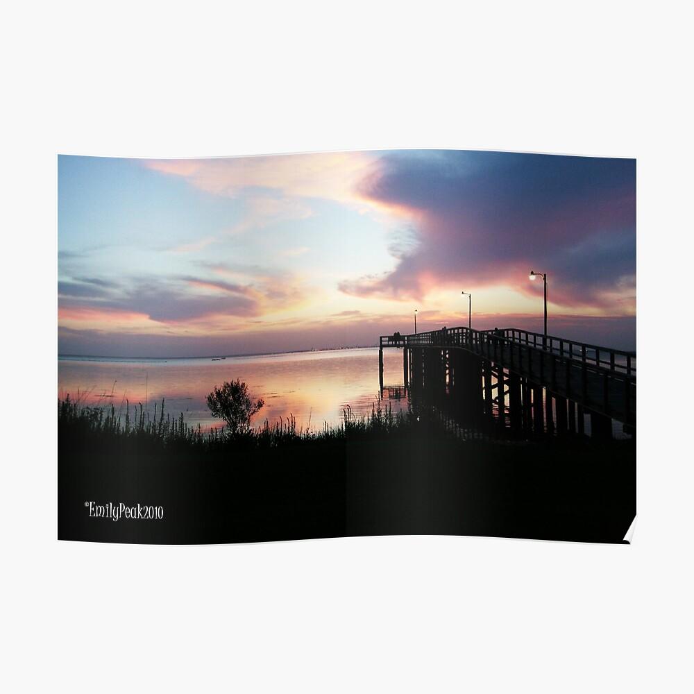 Sunset on Mobile Bay,Alabama Poster