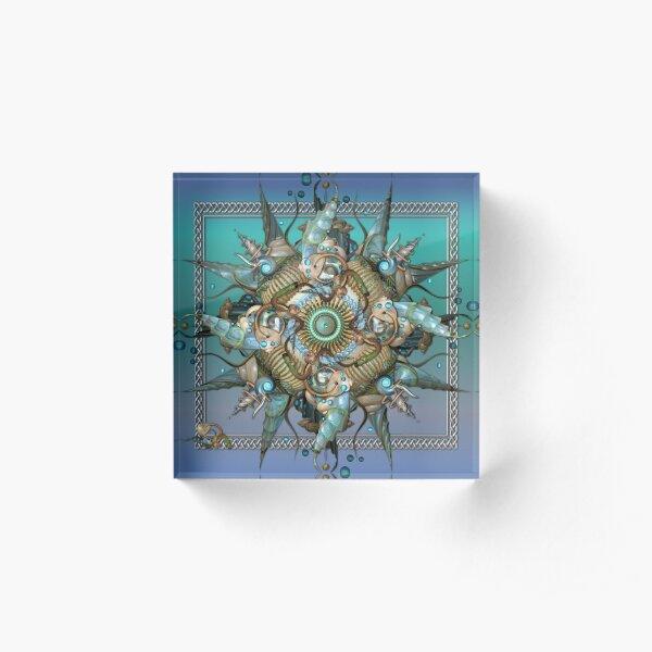 A Mermaid's Mandala Acrylic Block