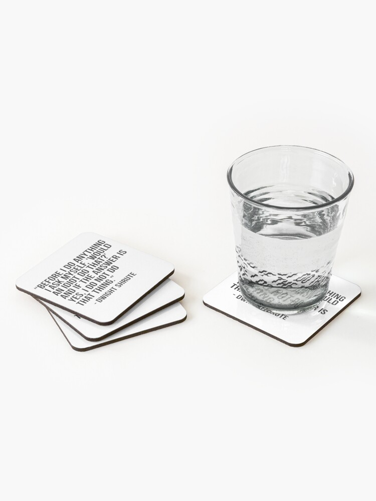 Alternate view of Dwight Shrute Quote Coasters (Set of 4)