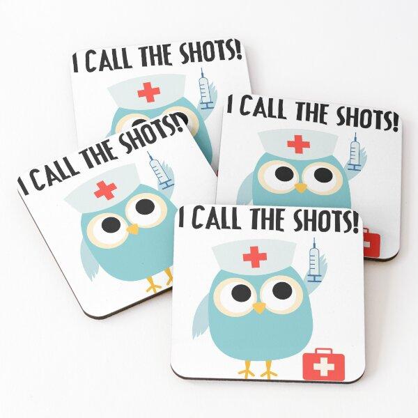 Professions Owl Nurse I Call the Shots Coasters (Set of 4)
