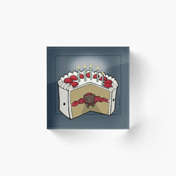 Strawbeary Shortcake :: Carnivorous Foods Series Acrylic Block