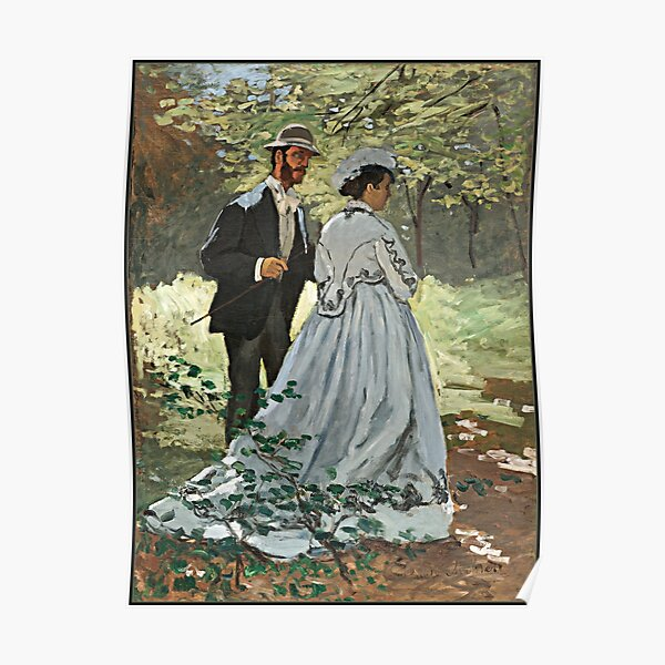 Monet - Bazille and Camille Poster