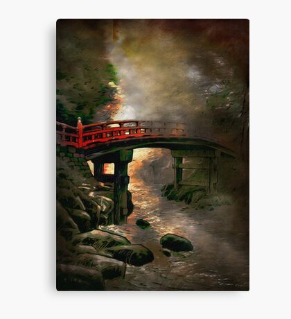 Bridge in Japan Canvas Print
