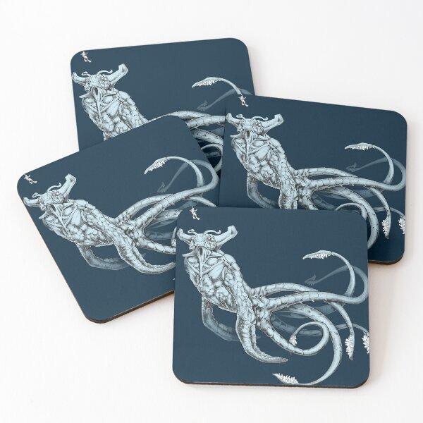Sea Emperor Transparent Coasters (Set of 4)