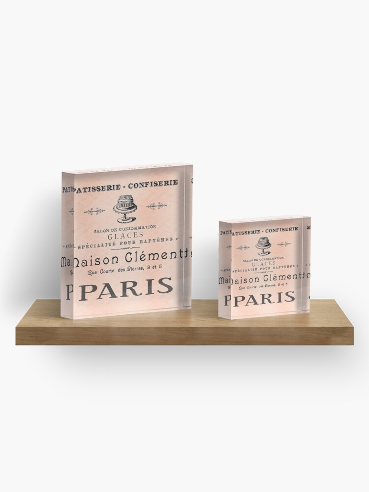 Alternate view of Antique French Cafe Sign Acrylic Block