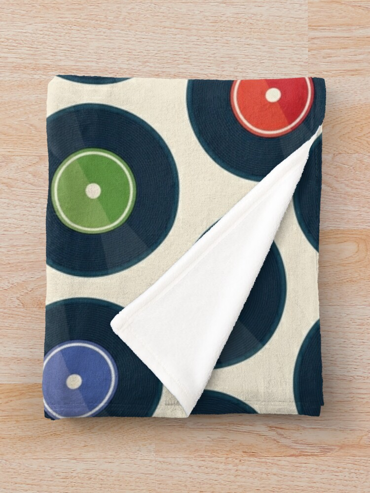 Alternate view of Vinyl Record Collection Throw Blanket
