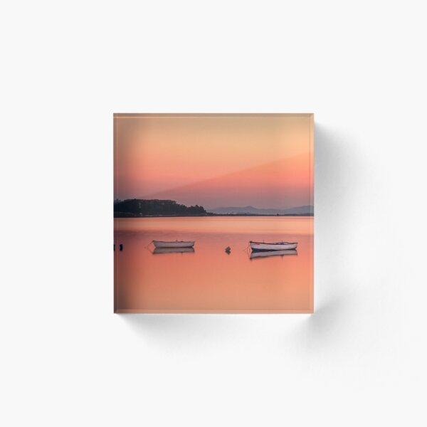 Boats on Sunrise Acrylic Block