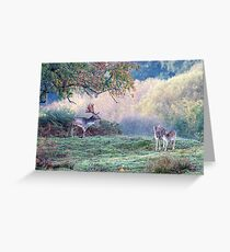 Autumn deer in the forest Greeting Card