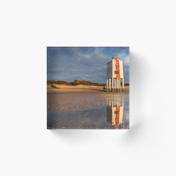 Burnham on Sea Low Lighthouse, Reflections Acrylic Block