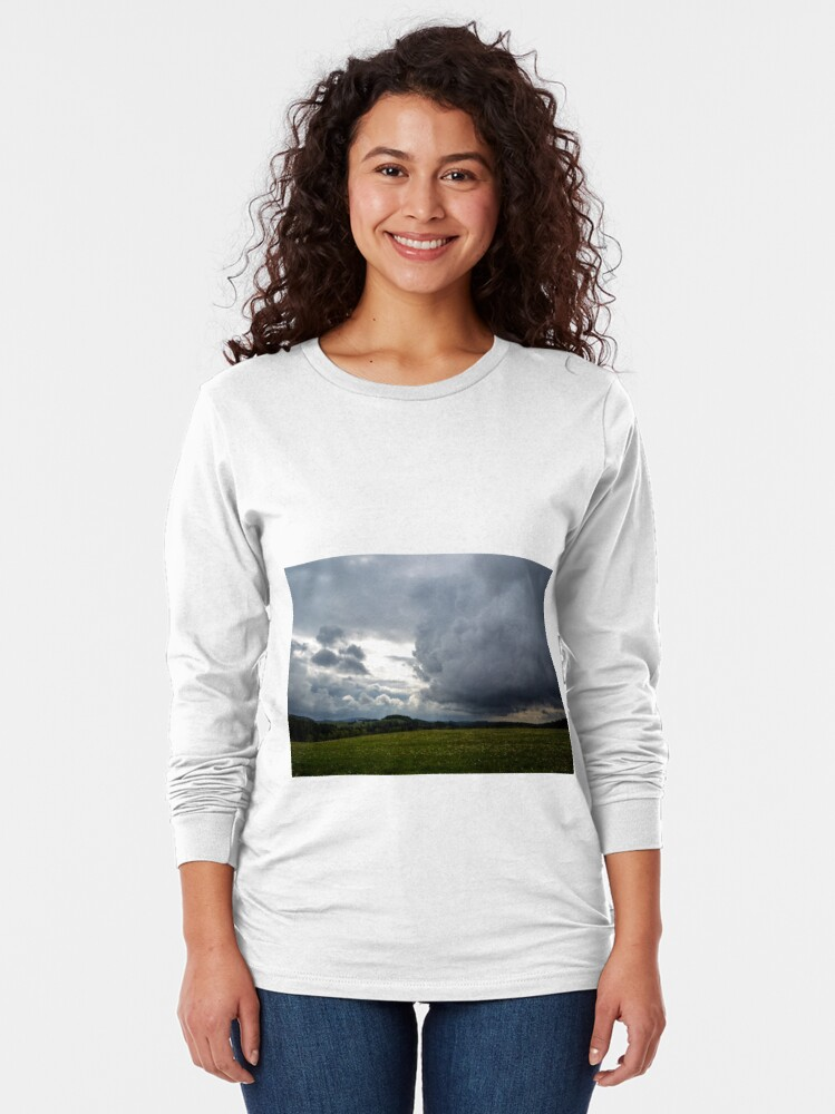Alternate view of Cloudy sky above Ralsko area Long Sleeve T-Shirt
