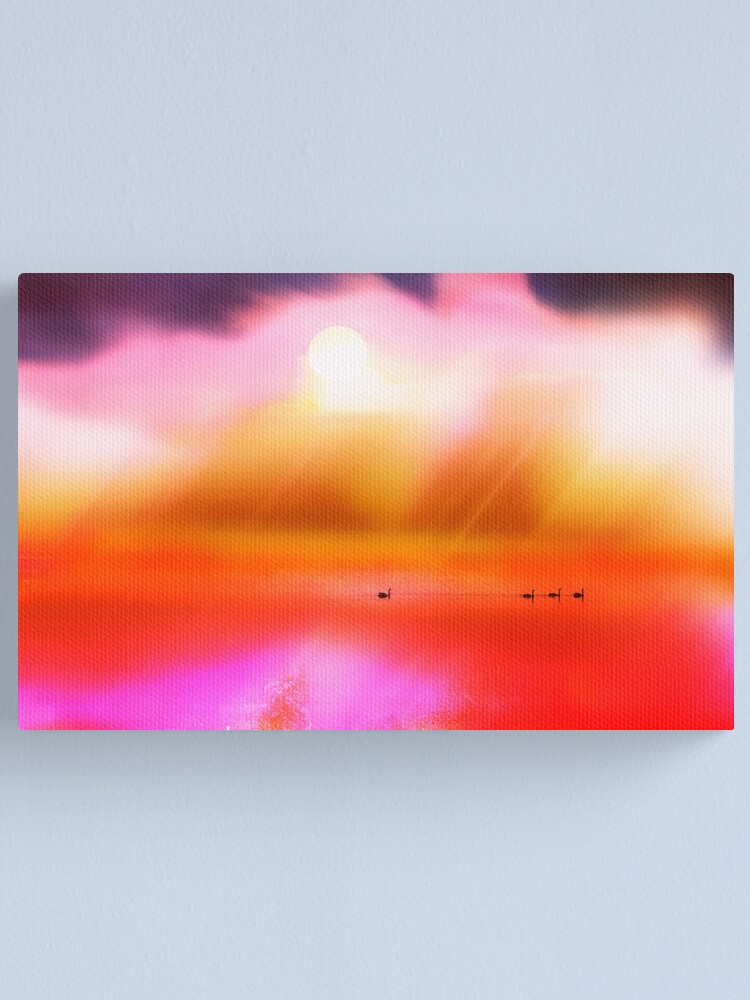 Alternate view of Swan Dreaming #2 Canvas Print