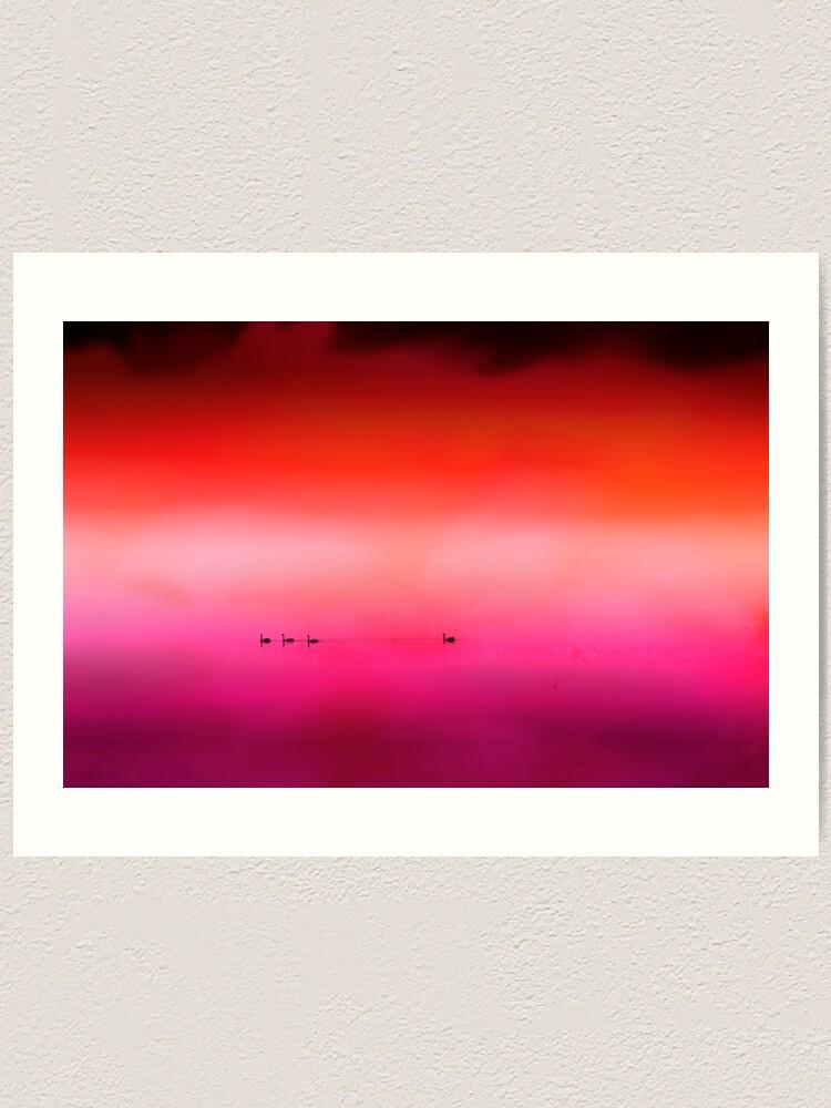 Alternate view of Swan Dreaming #3 Art Print