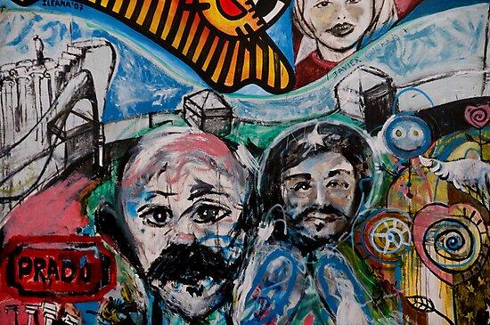 Street art on the Prado in Havana, Cuba by David Carton