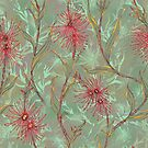 Red Gum Floral by lottibrown