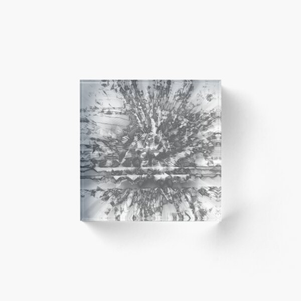 0126 Silver Acrylic Block