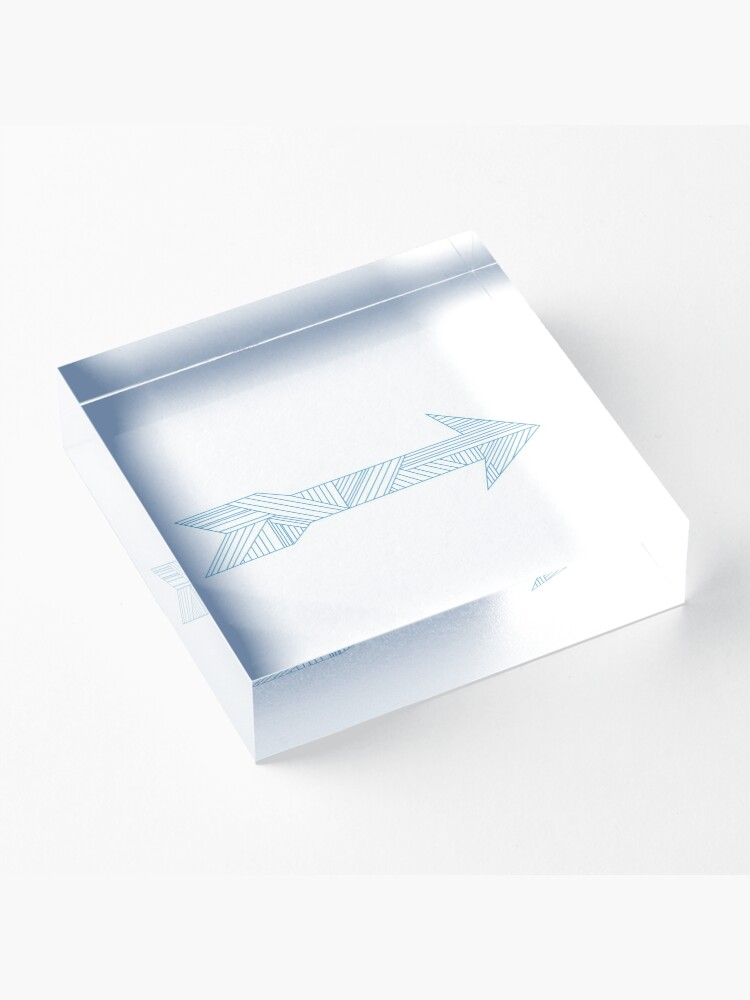 Alternate view of Arrow Acrylic Block