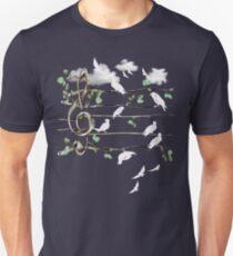 Musical Note Birds - white T-Shirt