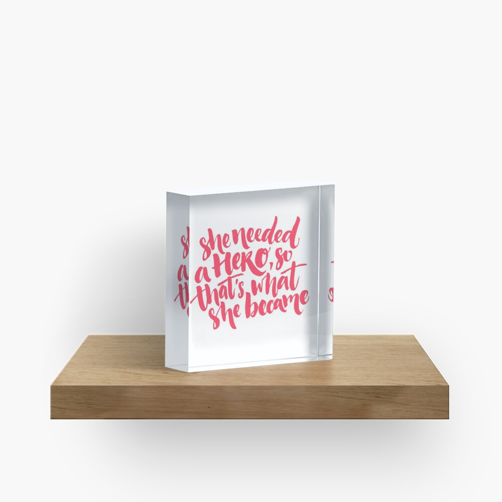 Feminism quote Acrylic Block