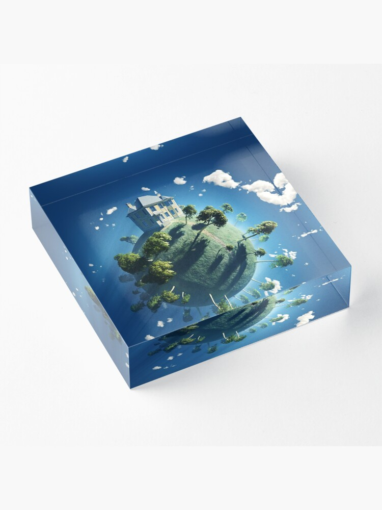 Alternate view of Live On Acrylic Block
