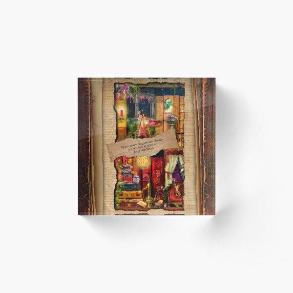 The Curious Library Calendar - April Acrylic Block