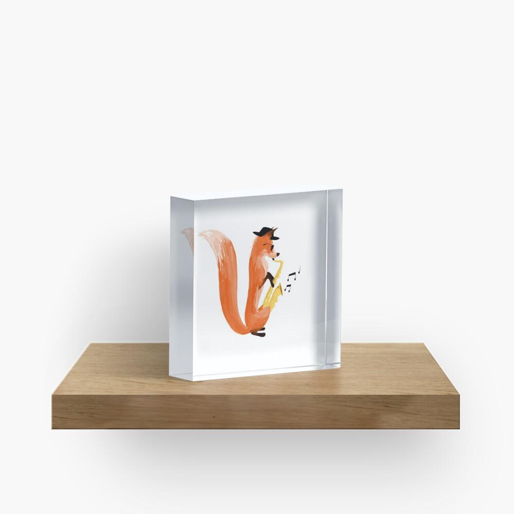 Jazzy Fox Acrylic Block