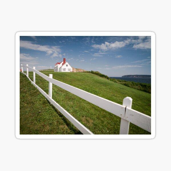 Small white wooden house, in Percé, Gaspésie, Québec, Canada. Sticker