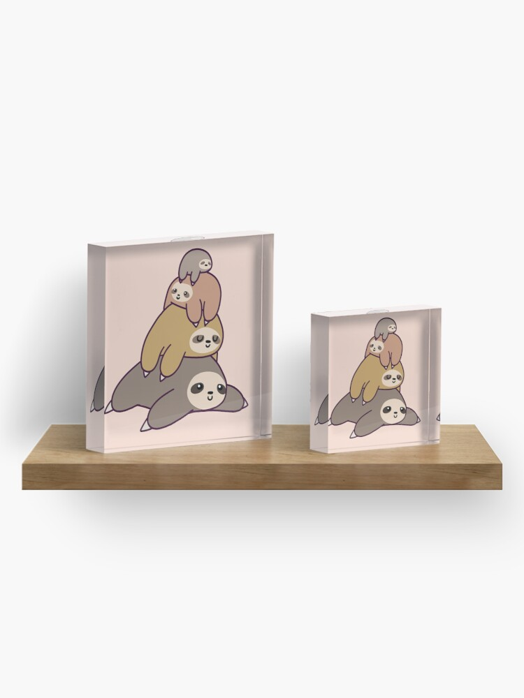 Alternate view of Sloth Stack Acrylic Block