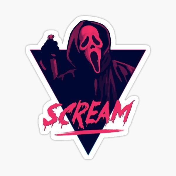 Scream movie - 80s design Sticker