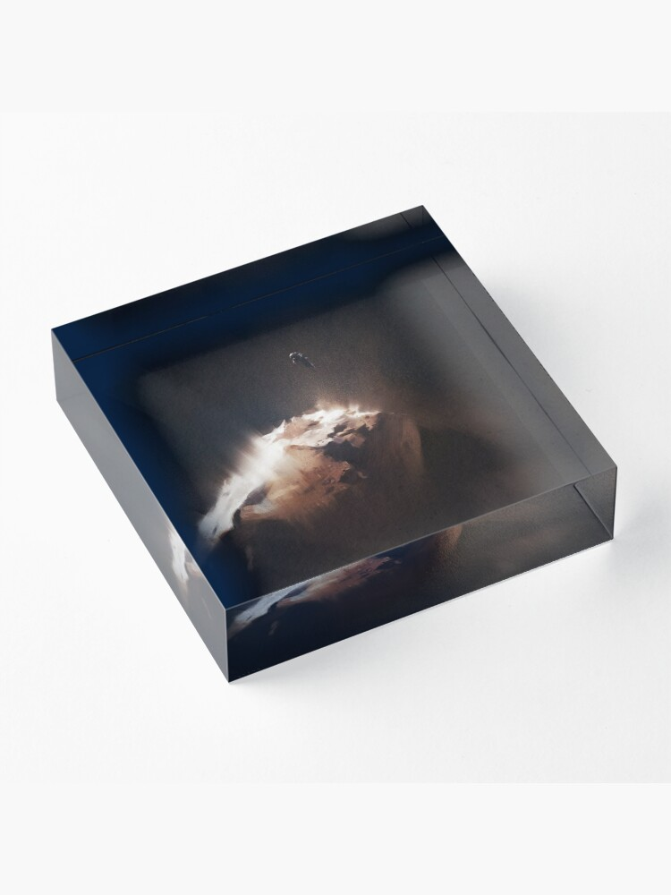 Alternate view of Above the Comet Acrylic Block
