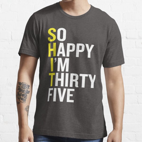 35th 35 Years Old Thirty Fifth Birthday Presents Mens Heather Awesome T-Shirt