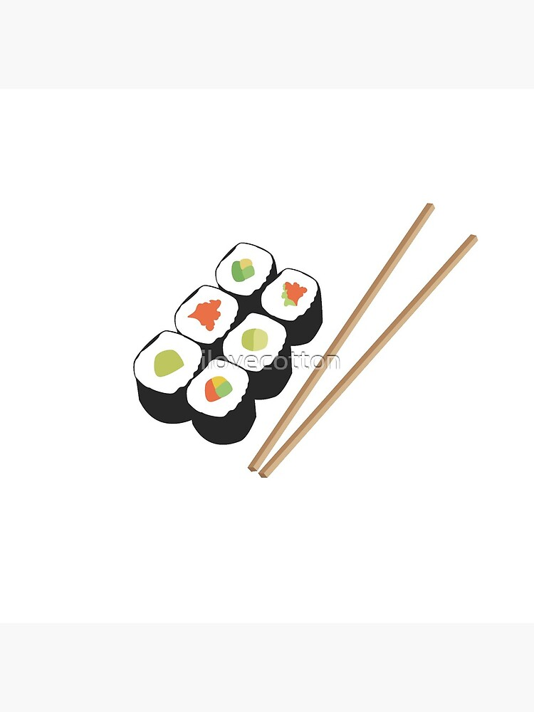 Sushi rolls with chopsticks by ilovecotton