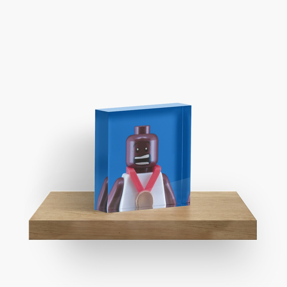 Mo Farah Portrait Acrylic Block