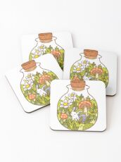 Bunny in a Bottle Coasters