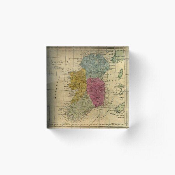 Vintage Map of Ireland (1808) Acrylic Block