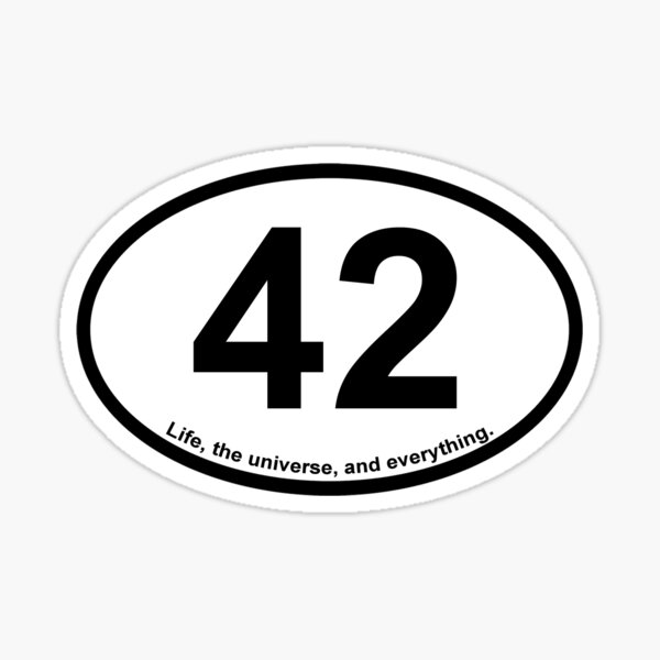 Hitchhiker's Guide Oval Sticker - 42 Sticker